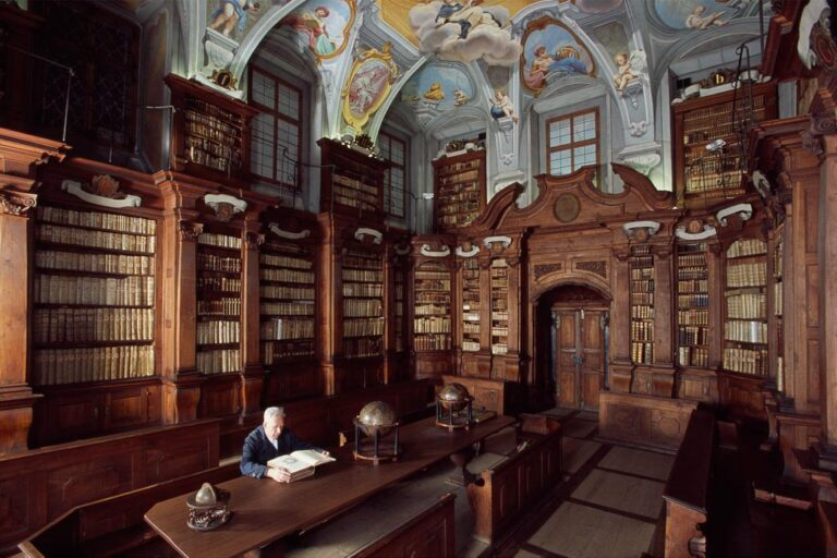Baroque library in Ljubljana's cathedral in the old city centre. Photo by Arne Hodalic
