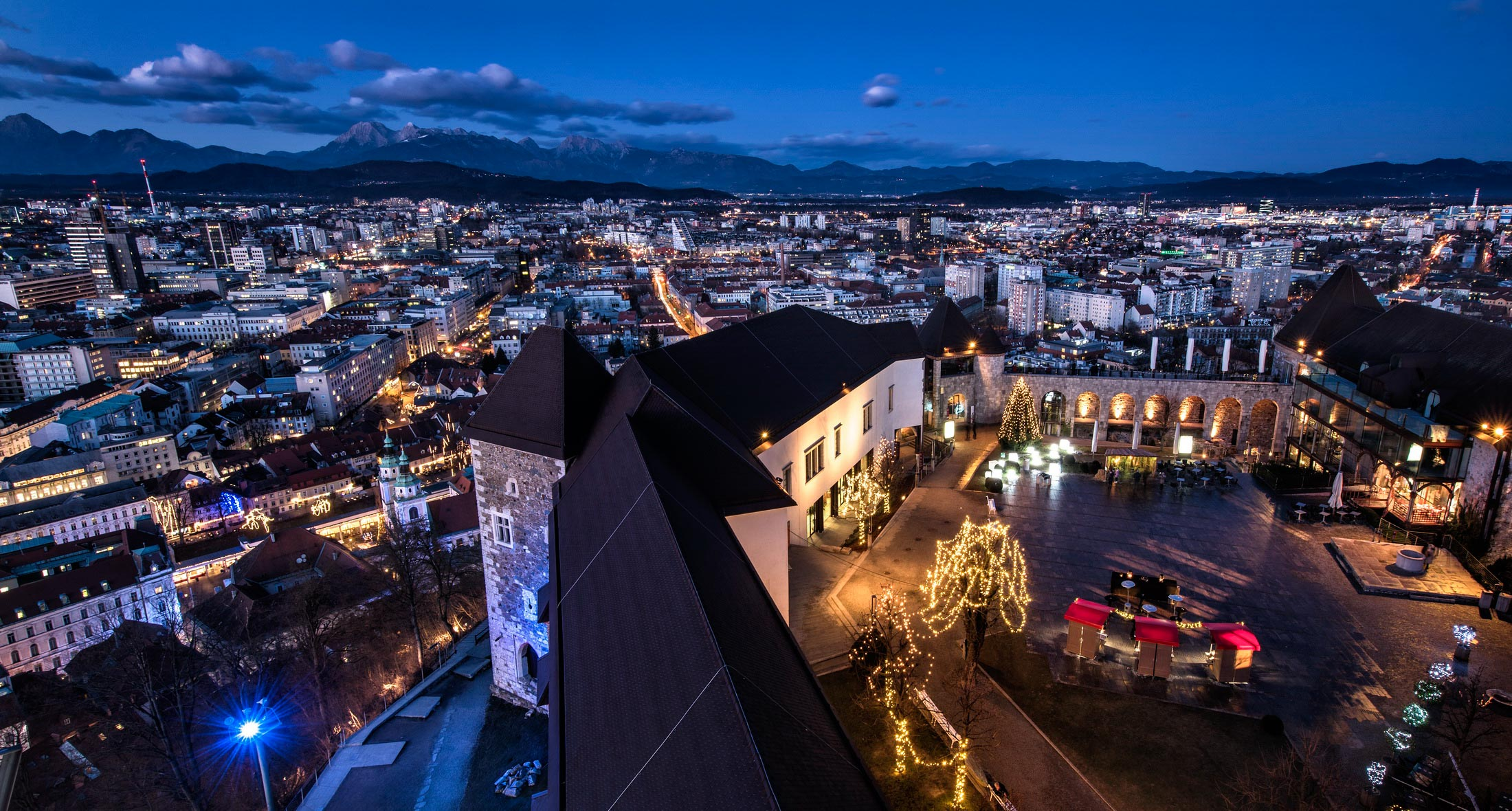 Ljubljana castle by nght. Photo by Arne Hodalic