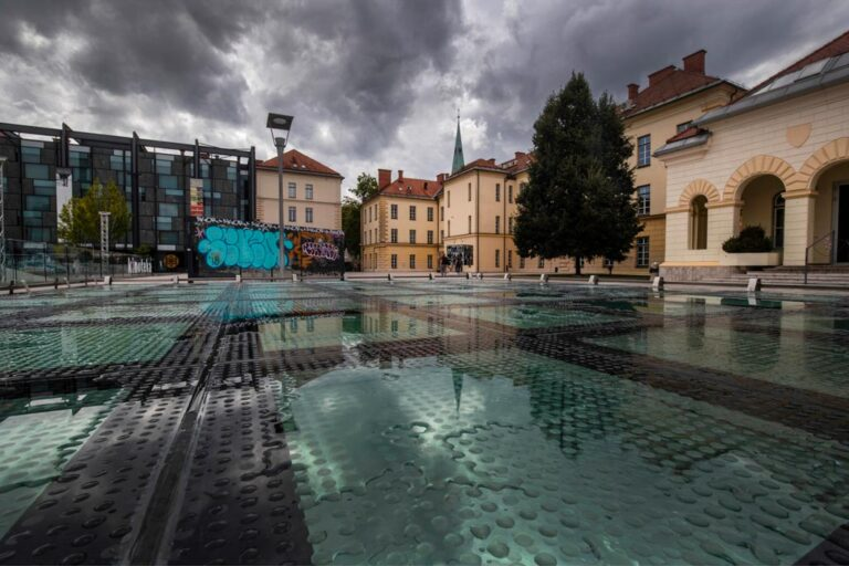 The former barracks museum area in Ljubljana. Photo by Iztok Boncina.